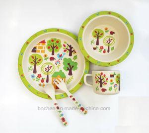 BPA Free Bamboo Fiber Tableware Kids Dinnerware Set (BC-BB-SU2010) pictures & photos