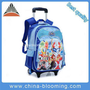 Children Cartoon Nylon School Wheel Rolling Backpack Trolley School Bag pictures & photos