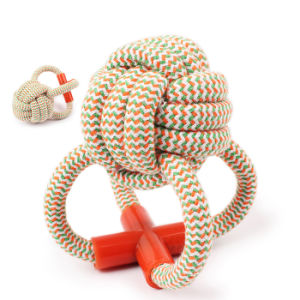 Octopus Shape Color Stripe Cotton Rope Dog Toys for Pet Biting pictures & photos