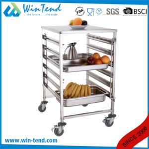 Hot Sale Dual Rows Mobile Food Truck Cart with Wheels for Sale pictures & photos