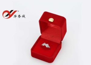 Square Red Single Ring Box pictures & photos