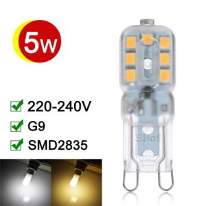 G9 LED Lamp 5W SMD2835 360 Degree Lighting High Transmittance pictures & photos