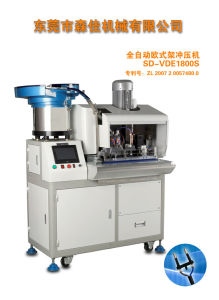 Full Automatic Copper Wire Processing European 2 Round Pin Plug Crimping Machine pictures & photos