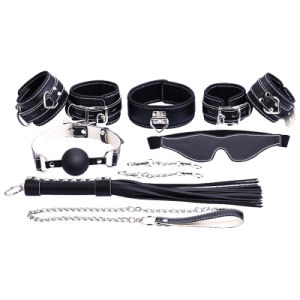 Fur-Lined Locking Bondage Collar with Leash Adult Sex Toys pictures & photos