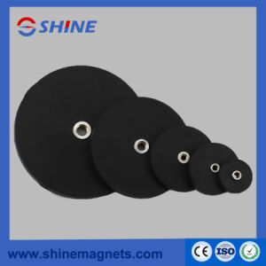 Rubber Coated NdFeB Pot Magnet with Threaded Hole pictures & photos