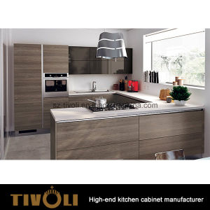 Oak Rosewood Veneer Cabinet Design Kitchen Cabinet and Kitchen Furniture (AP152) pictures & photos