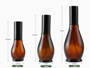 100ml Amber Glass Spray Bottle for Cosmetic Packaging pictures & photos