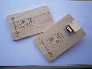 8GB Wooden Card USB 2.0 Flash Stick Pen Drive pictures & photos