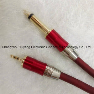 Hot 6.35 Mono Plug to 3.5 Stereo Plug Metal/AV Cable pictures & photos
