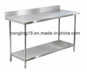 1.6m 2-Tier Stainless Steel Working Table for Kitchen Bakery pictures & photos