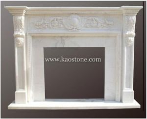 White Marble Fireplace Mantel for Interior Decorative pictures & photos