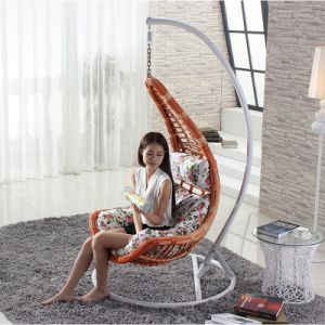 Rattan Shaped Swing Chair Wicker Hanging Single Seat Swing Chair D018A pictures & photos