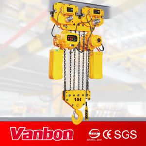 15ton Electric Chain Hoist Fixed to Crane or Beam (WBH-15006S) pictures & photos