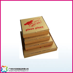Recyclable Kraft Paper Corrugated Cardboard Pizza Box (xc-11-001) pictures & photos