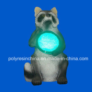 Polyresin Raccoon with Reflector Light pictures & photos