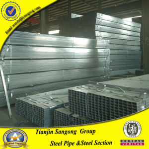 Bright Surface Pre Galvanized Rectangular and Square Steel Pipe pictures & photos