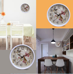 12 Inch Home Decoration Plastic Home Goods Wall Clock, Round Plastic Wall Clock (LZ005) pictures & photos