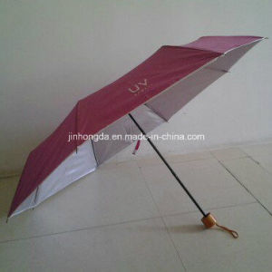Three Fold Sliver Coated UV Protection Umbrella (YS-3F044A) pictures & photos