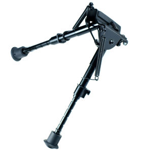 "Adjustable 6"" to 9"" Legs Sniper Hunting Rifle Bipod Sling Swivel Mount"