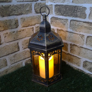 Hex LED Plastic Candle Lantern