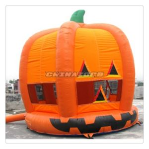 Vivid Pumpkin Shape Halloween Bouncer Inflatable Moowalk pictures & photos