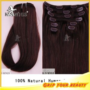 Top Quality Virgin Human Clip Hair Weft Extension pictures & photos