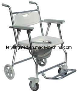 Folding Aluminum Wheelchair and Commode Chair pictures & photos