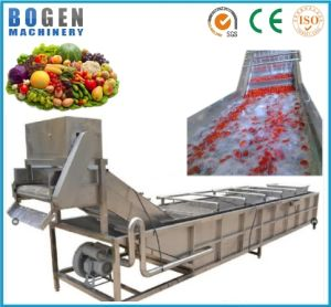 2017 New Fruit and Vegetables Bubble Washer /Commercial Fruit and Vegetable Washing Machine pictures & photos