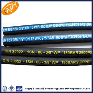Tianjin Factory En 853 2sn Steel Wire Braid Flexible Hose/ Hydraulic Hose pictures & photos
