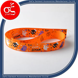 Printed Woven Edge Polyester Satin Ribbon Bracelet pictures & photos