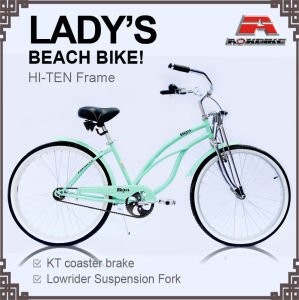 Spring Fork Hi-Ten Beach Cruiser Bike for Lady (ARS-2687S-1) pictures & photos