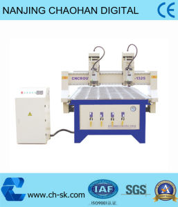 CNC Vacuum Router Two Heads Woodworking Engraving Machine (OP-1325D)