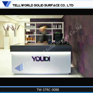 High Quality White Commercial Hotel Reception Desk Size pictures & photos