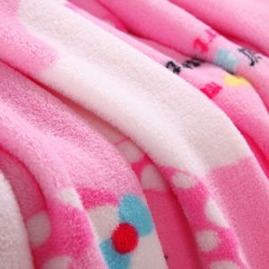 100% Polyester Factory Price Soft Printed Colorful Coral Fleece Blanket pictures & photos