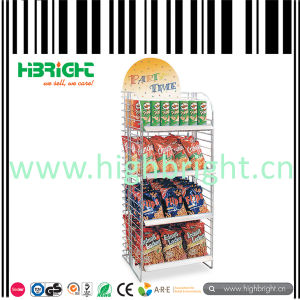 Retail Wire Snacks Supermarket Display Rack pictures & photos