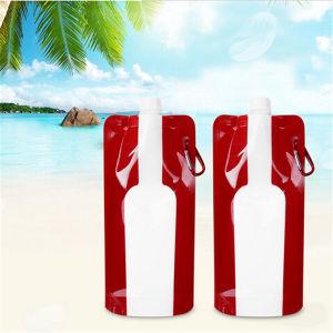 BPA Free Plastic Reusable Foldable Wine Bottle