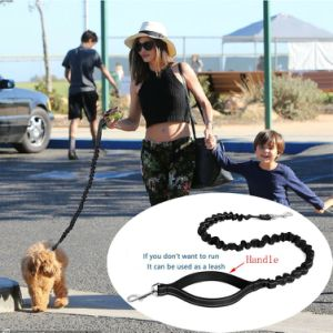 Hands Free Lightweight Reflective Adjustable Nylon Dog Leash Running Walking Jogging for Large Medium Small Dogs, Black pictures & photos