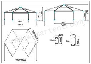 Aluminum Polygon Tent for Outdoor Wedding Party Event pictures & photos