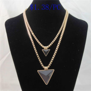 New Item Black Triangle Pendant Fashion Necklace pictures & photos