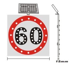 Solar Powered Reflective Traffic Sign Board (ST-STS-2C80) pictures & photos