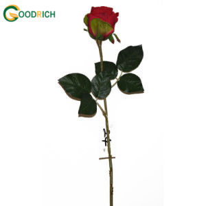 Single Stem Red Rose Artificial Flower pictures & photos