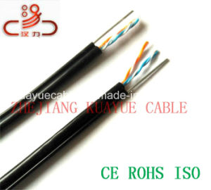 Jelly Filled 1 Pair 24AWG Drop Wire Cable/Cable Network/ Communication Cable/ UTP Cable/ Computer Cable pictures & photos