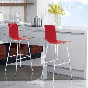 Armless Backrest Red High Plastic Bar Chair (SP-UBC245) pictures & photos