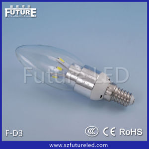 Hot Sales Low Power Silver E14 LED Recharge Bulb 3W pictures & photos