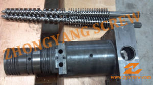 Conical Twin Screw Barrel for Injection Molding Machine pictures & photos