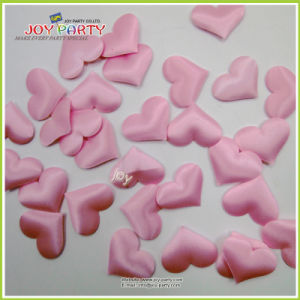 Pink Heart Shape Soft Fabric 3D Wedding Confetti