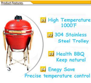 23.5 Inches BBQ Pizza Oven Ceramic Barbecue Grill