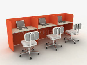 Red Modular Cubicle Office Workstation (SZ-WS74) pictures & photos