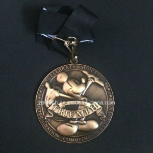Customized 3D Zinc Alloy Medals/Medallions with Antique Finish for Celebration pictures & photos