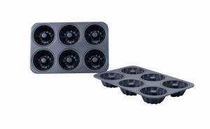 Professional High Quality Bakeware Aluminum Hard Anodized 6 Cup Mini Fluted Mold Pan (MY2850H) pictures & photos